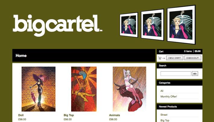 Buy my artwork at Big Cartel